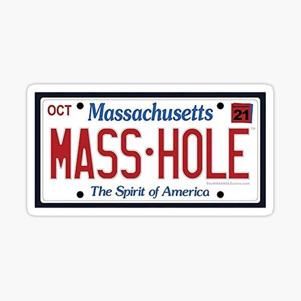 Masshole Plate Sticker