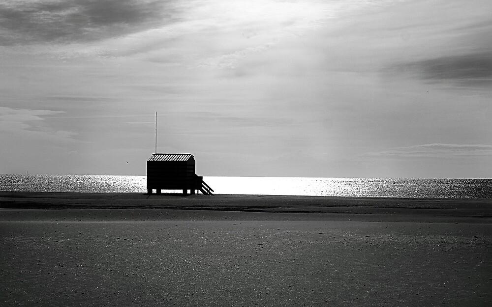 Beach hut. by Paul Pasco