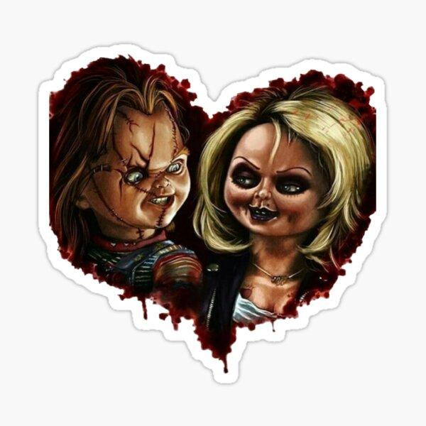 Amor chucky y tiffany Pegatina