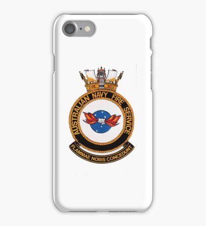 Royal Australian Navy Fire Service iPhone Case #1 iPhone Case/Skin