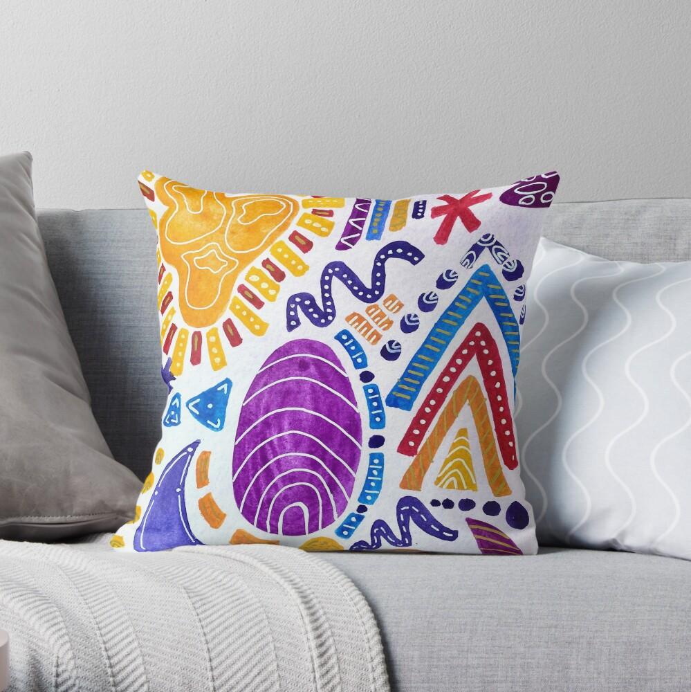 Sunset Sandwich (vertical) Throw Pillow