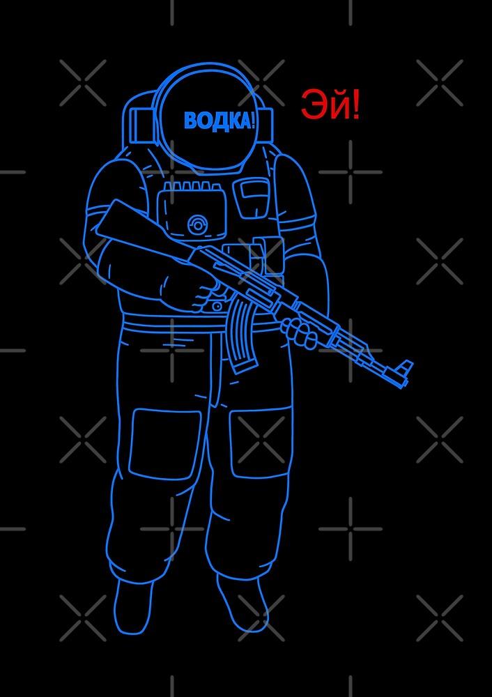 AK Cosmonaut - saying Hey! by benyuart