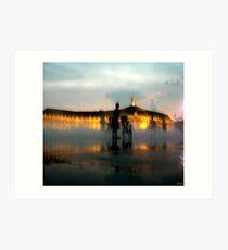 Bordeaux - miroir d'eau - evening Art Print