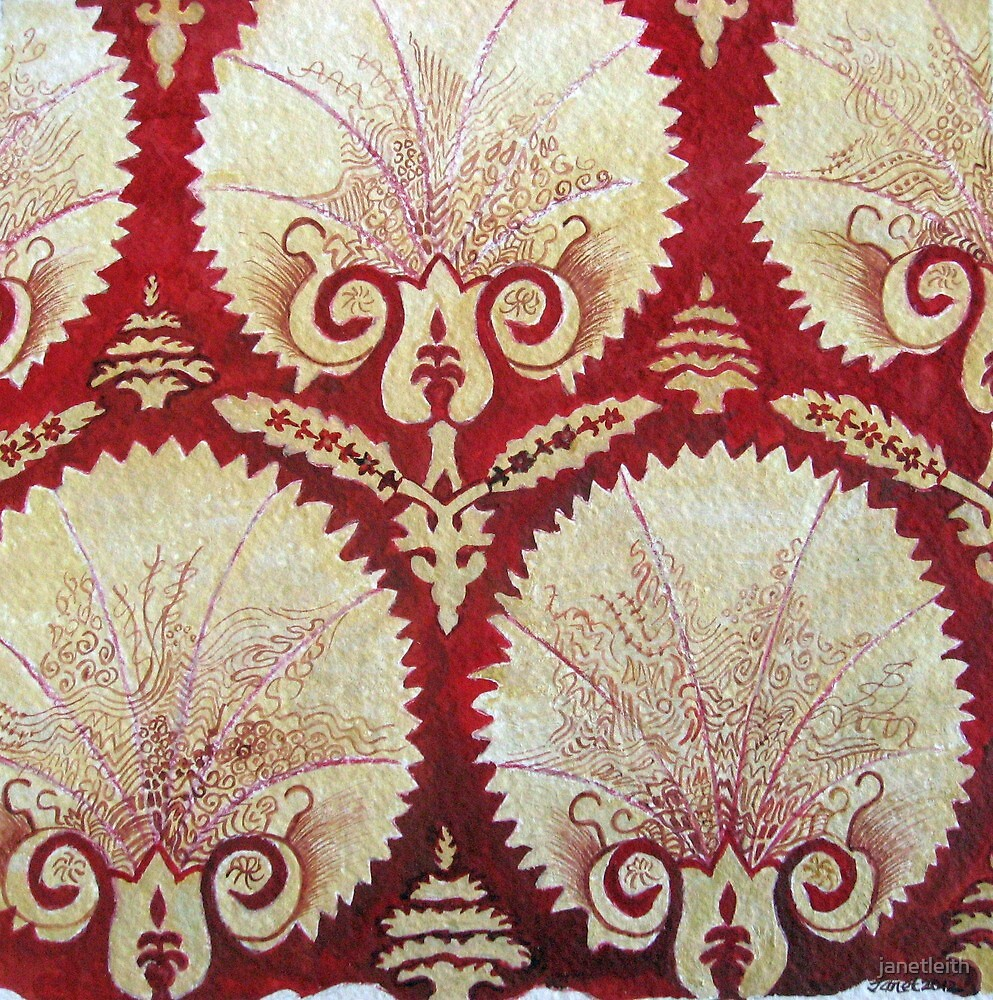 Maroon Pattern, Dec 2012 by janetleith