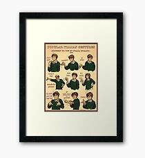 Popular Italian Gestures brought to you by Italia Romano Framed Print