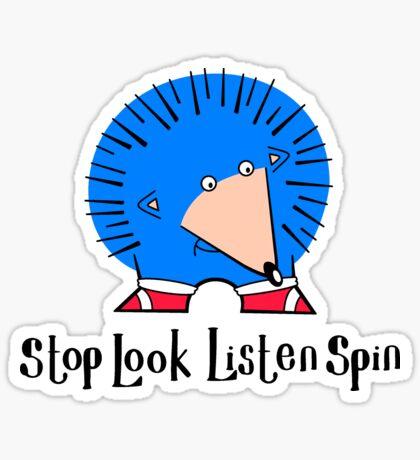 Stop Look Listen Spin Sticker