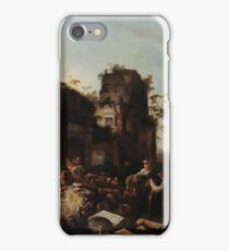 Circle of Jan Griffier the Elder The Return of the Caravan from a Grand Tour iPhone Case/Skin