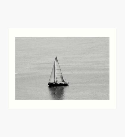 Sailboat to Nowhere Art Print