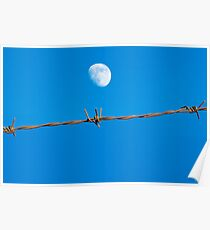 Barbwire Moon Poster