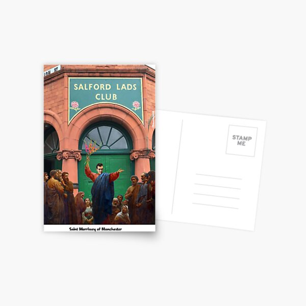 St Morrissey of Manchester Postcard
