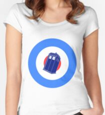 TARDIS Mod Target Women's Fitted Scoop T-Shirt