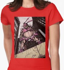 The Pink Bunny Saves Women's Fitted T-Shirt
