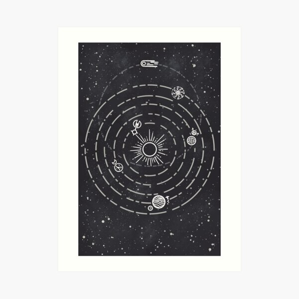 Outer Wilds Solar System Art Print