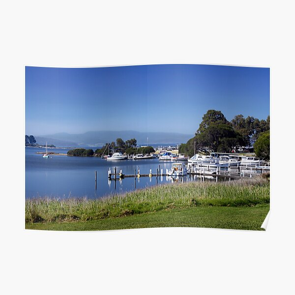 Mallacoota Inlet and boats Poster