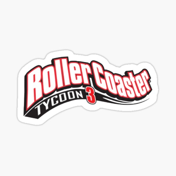 Roller Coaster Tycoon 3 Logo Sticker