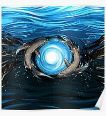 Shark Mandala Poster