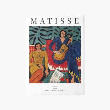 Henri Matisse - Music - Exhibition Poster Art Board Print