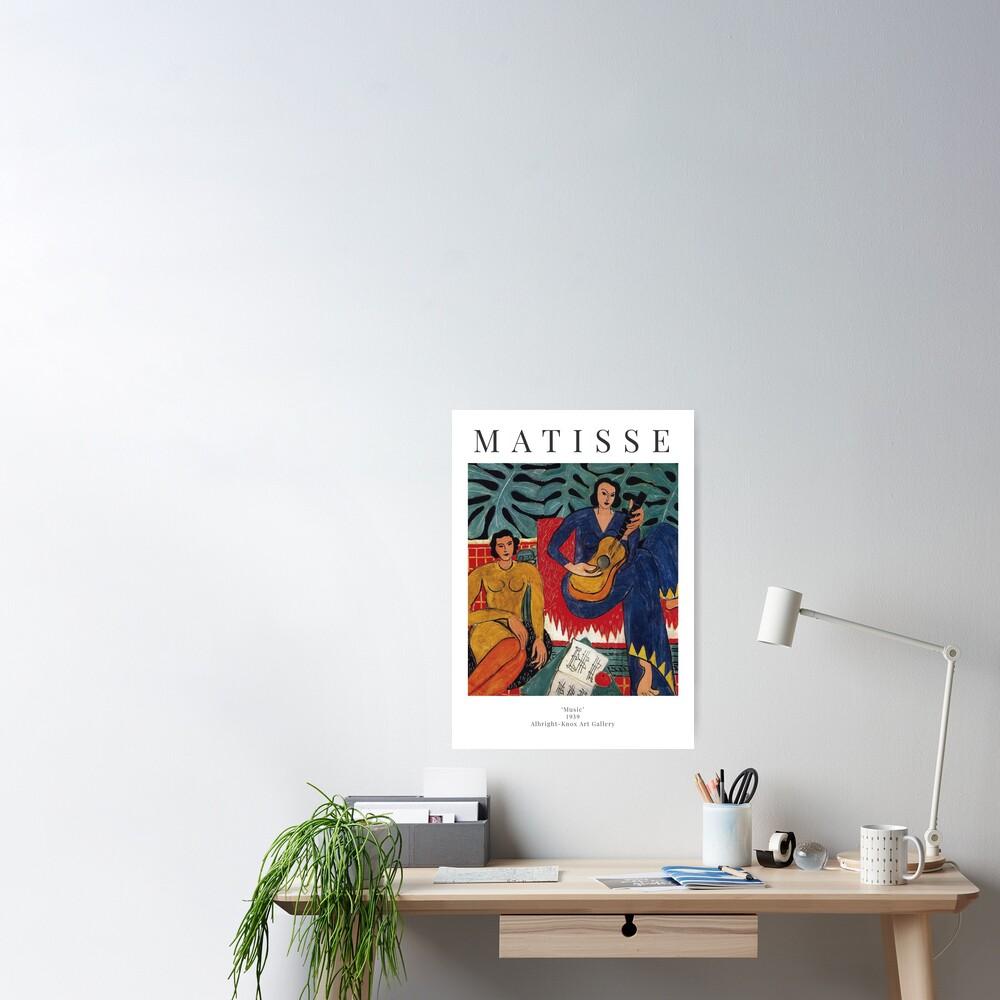 Henri Matisse - Music - Exhibition Poster Poster