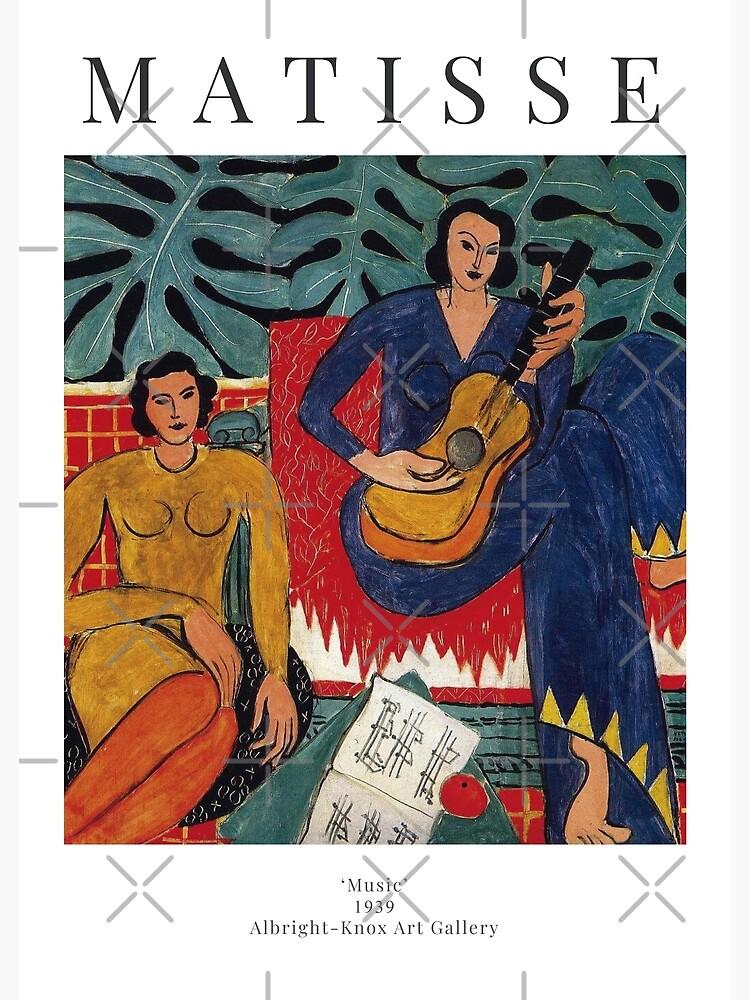 Henri Matisse - Music - Exhibition Poster by studiofrivolo
