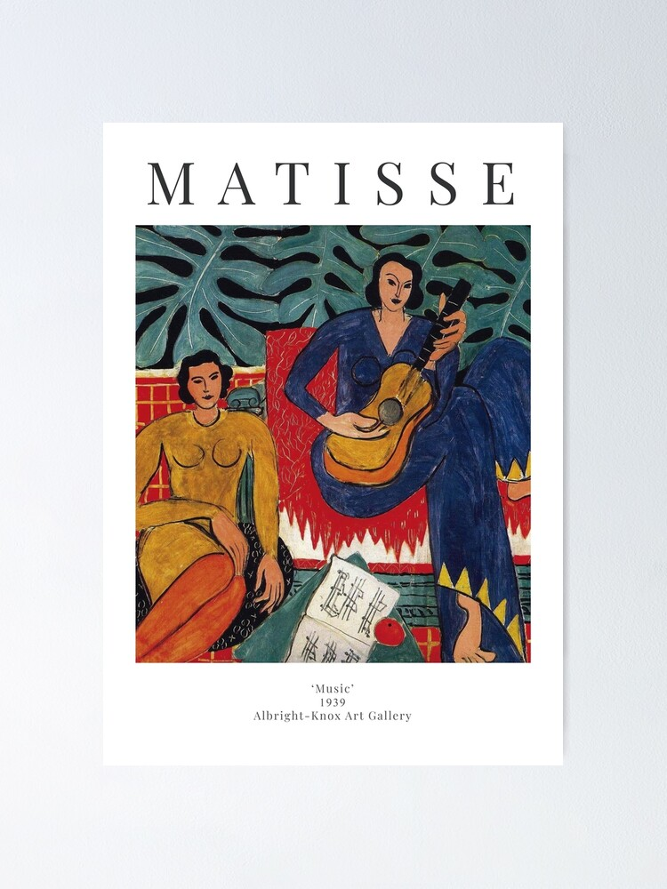 Alternate view of Henri Matisse - Music - Exhibition Poster Poster
