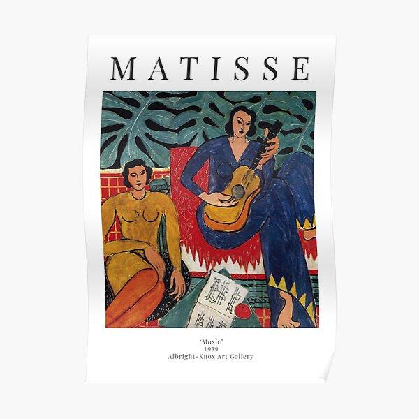 Henri Matisse - Música - Cartel de la exposición Póster