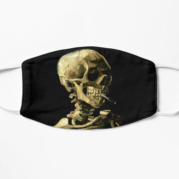 Vincent van Gogh skeleton skull smoking cigarette art lover gift t shirt or mask Flat Mask