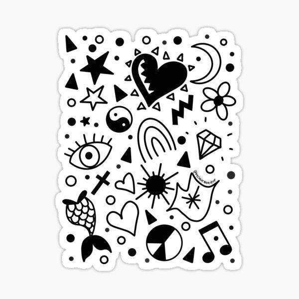Shiny Happy Doodles Sticker