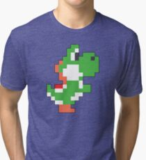Super Mario Maker - Yoshi Costume Sprite Tri-blend T-Shirt