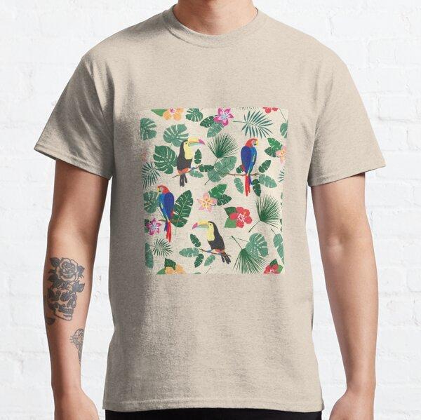 Busy Tropics Print Classic T-Shirt