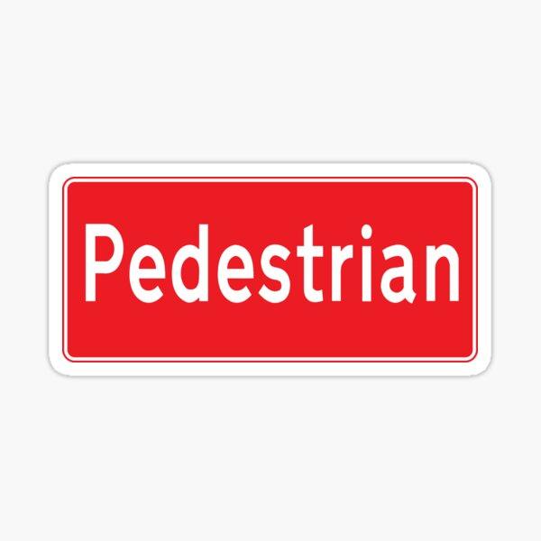 Pedestrian Sticker
