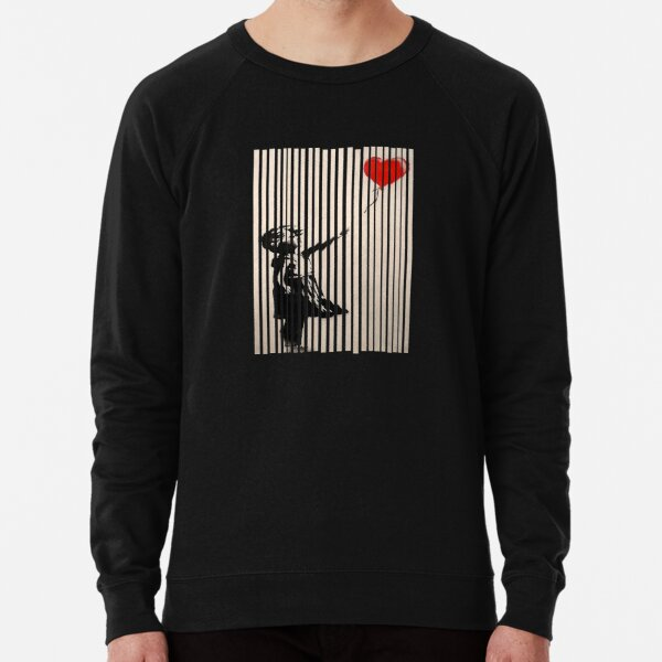 Shredded Banksy Girl with Balloon contemporary street art lover gift t shirt or mask Lightweight Sweatshirt