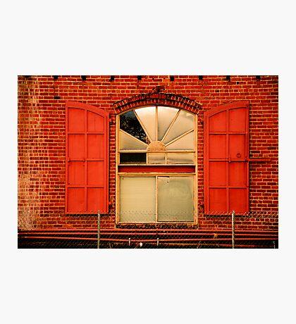 Brick Red Photographic Print