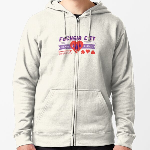 Fuchsia City Gym  Zipped Hoodie