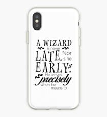 A Wizard is Never Late iPhone Case