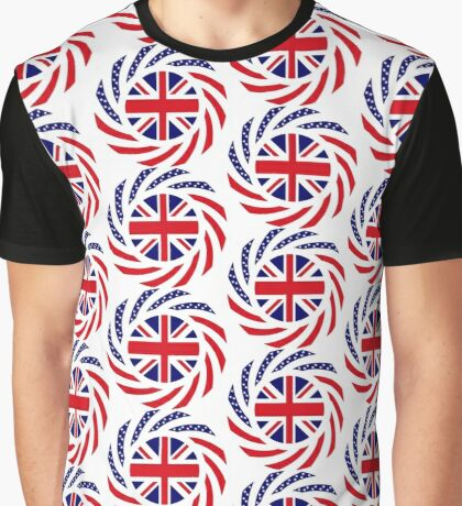 British American Multinational Patriot Flag Series Graphic T-Shirt