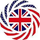 British American Multinational Patriot Flag Series by Carbon-Fibre Media