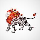 Flaming Lion by kuzzie