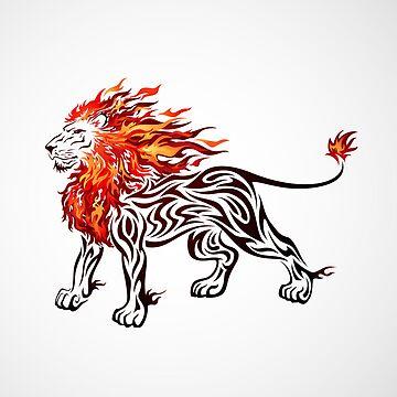 Flaming Lion by kuzzie