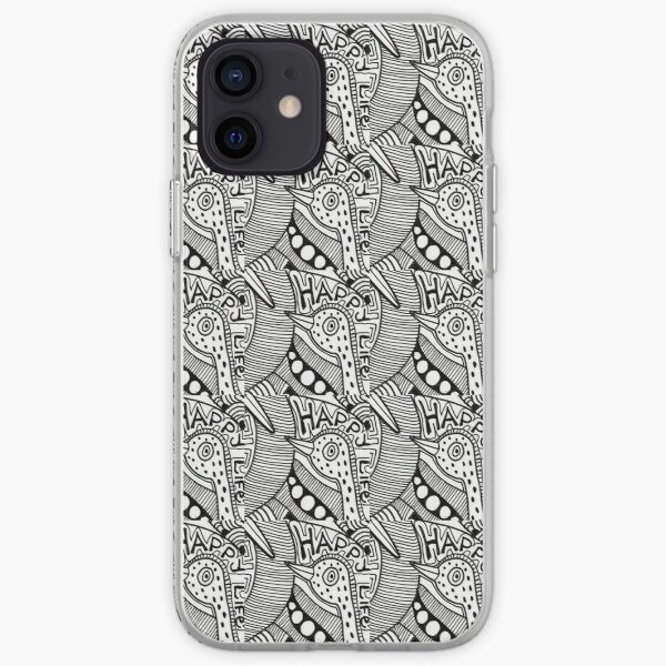 denthe doodle case black & white iPhone Soft Case