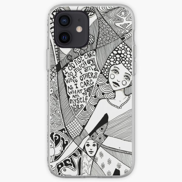 denthe doodle black and white case iPhone Soft Case