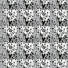 denthe doodle pattern black & white ipad by denthe