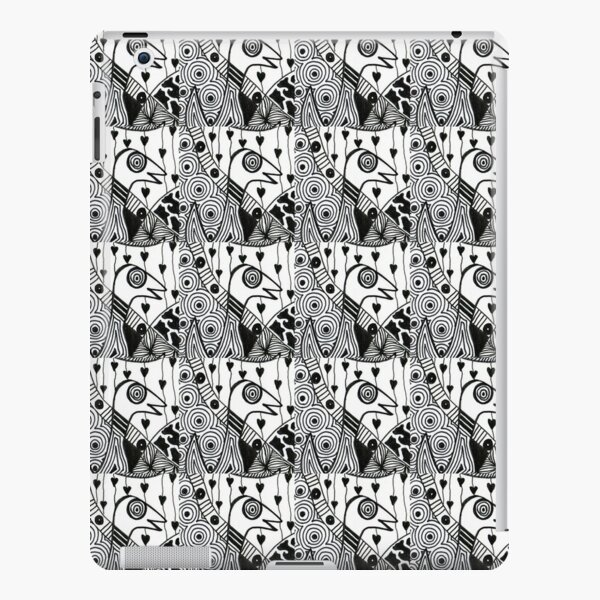 denthe doodle pattern black & white ipad iPad Snap Case