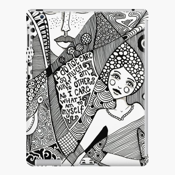 denthe doodle girl ipadcase iPad Snap Case