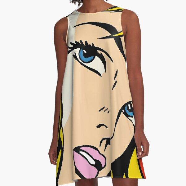 A vectorised Roy Lichtenstein A-Line Dress