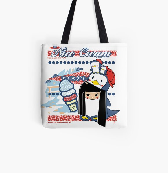Nice Cream All Over Print Tote Bag