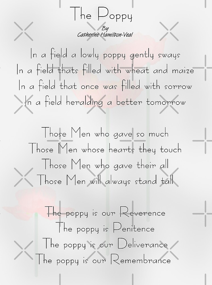 The Poppy by Catherine Hamilton-Veal  ©