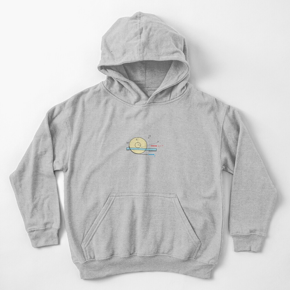 Physics Problem: Find the acceleration of the center of the disc Kids Pullover Hoodie