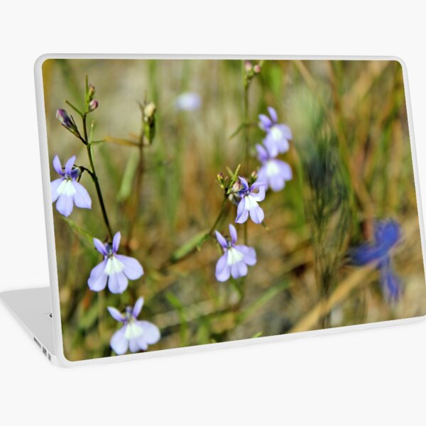 Blue Green Lilac Wild Flowers Photography, Nature Laptop Skin