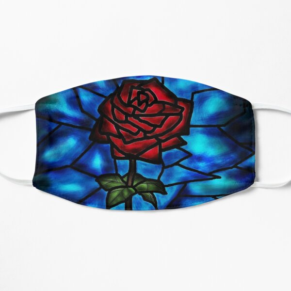 Stained Glass Rose  Mask