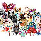 Owls collage by IsabelSalvador